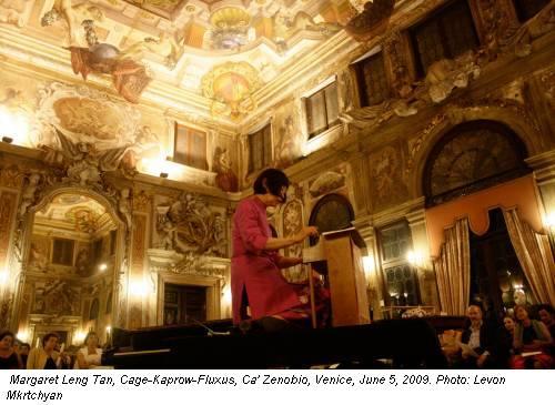 Margaret Leng Tan, Cage-Kaprow-Fluxus, Ca' Zenobio, Venice, June 5, 2009. Photo: Levon Mkrtchyan