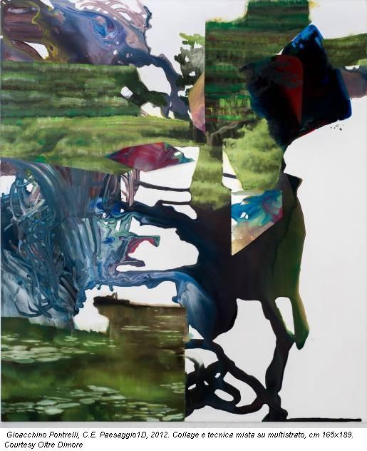 Gioacchino Pontrelli, C.E. Paesaggio1D, 2012. Collage e tecnica mista su multistrato, cm 165x189. Courtesy Oltre Dimore