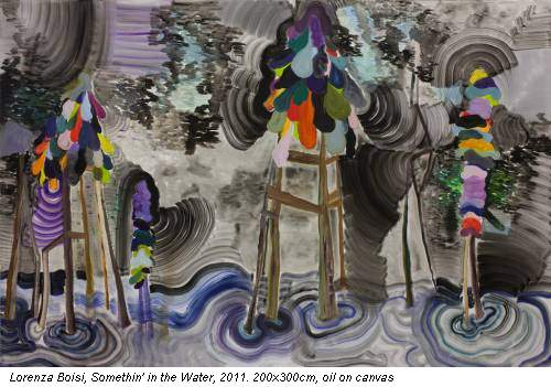 Lorenza Boisi, Somethin' in the Water, 2011. 200x300cm, oil on canvas
