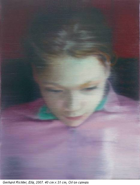 Gerhard Richter, Ella, 2007. 40 cm x 31 cm, Oil on canvas
